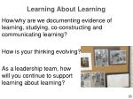 learning about learning1