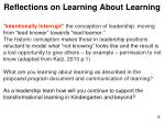 reflections on learning about learning