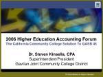 2006 higher education accounting forum the california community college solution to gasb 45