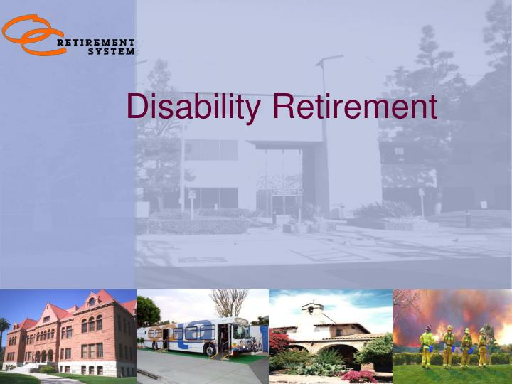 disability retirement n.