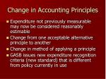 change in accounting principles