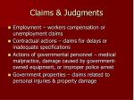 claims judgments