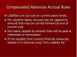 compensated absences accrual rules