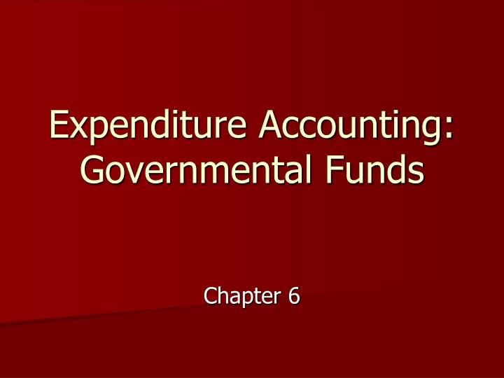 expenditure accounting governmental funds n.