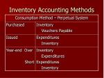 inventory accounting methods