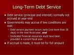 long term debt service