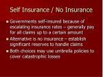 self insurance no insurance