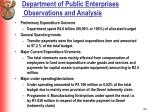 department of public enterprises observations and analysis