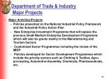 department of trade industry major projects