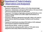 department of trade industry observations and analysis 3