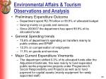 environmental affairs tourism observations and analysis