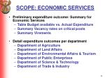 scope economic services