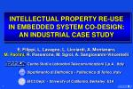 intellectual property re use in embedded system co design an industrial case study