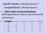 individual demand market demand