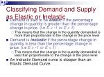 classifying demand and supply as elastic or inelastic