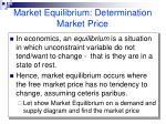 market equilibrium determination market price