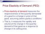 price elasticity of demand ped