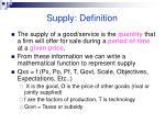 supply definition