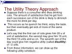 the utility theory approach