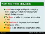 what are trust services