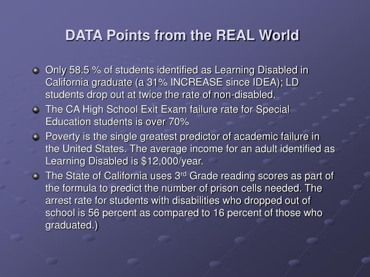 DATA Points from the REAL World