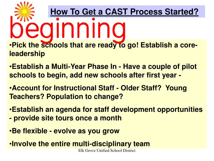 How To Get a CAST Process Started?