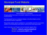 municipal fund website
