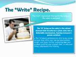 the write recipe2