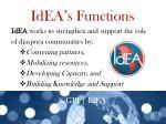 idea s functions
