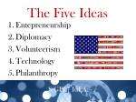 the five ideas