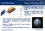 i the iasi mission metop and the eps program