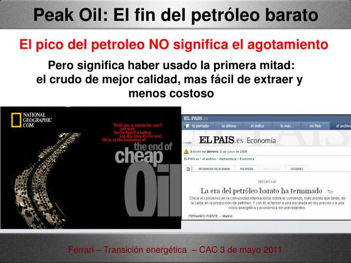 Peak Oil: El fin del petróleo barato