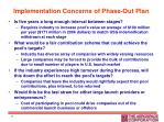 implementation concerns of phase out plan