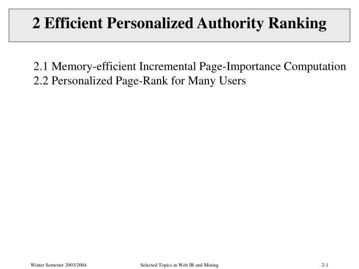 2 efficient personalized authority ranking n.