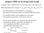 adaptive opic for evolving link graph