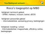 risico s toegespitst op mbo