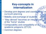 key concepts in internalization