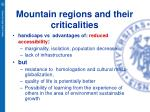 mountain regions and their criticalities