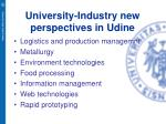 university industry new perspectives in udine