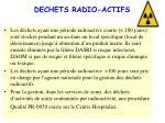 dechets radio actifs
