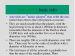 asteroids basic info