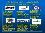 a top european location for product r d outsourcing customer service and bpo