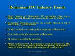romanian itc industry trends