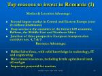 top reasons to invest in romania 1