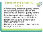tasks of the ehes rc 2 3