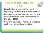 tasks of the ehes rc 3 3