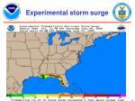 experimental storm surge