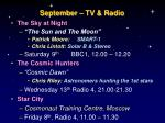 september tv radio