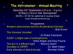 the astronomer annual meeting