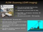 alsm scanning lidar imaging